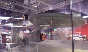 Old display of the Enterprise model at the Smithsonian